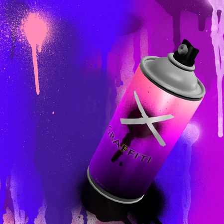 spray can graffiti with wall painting Stock Photo - 2654457
