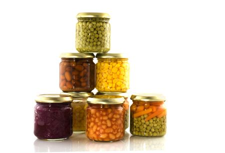 different canned vegetables photo