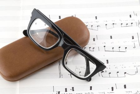 composed: retro glasses to see the composed music