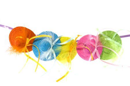 summerhats dans différentes couleurs gaies Banque d'images
