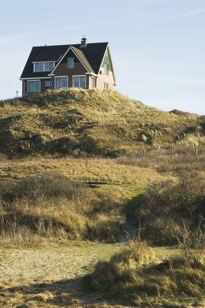 modern house on a hill photo