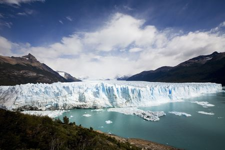 gletcher ice from perito Moreno in Patagonia photo