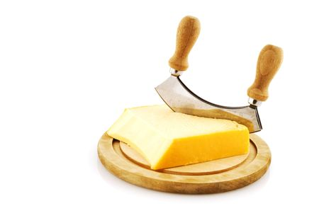 block with yellow Dutch cheese photo