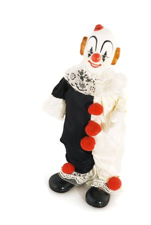 chuckle: funny comical smiling clown