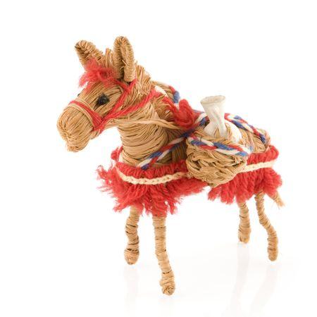 pack animal: uno spagnolo turistico asino come una confezione di origine animale Archivio Fotografico