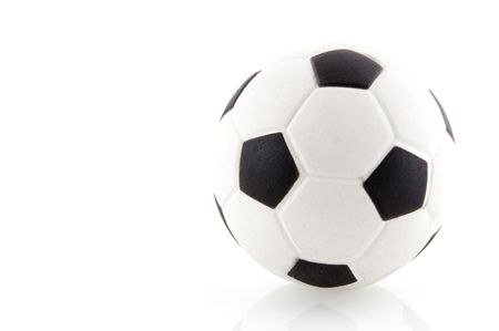 black and white soccer ball Stock Photo - 2870327