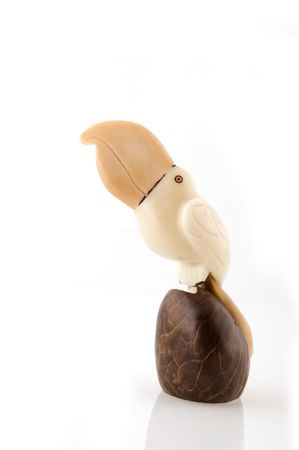 Tucan made from vegetable ivory in South America Stock Photo - 2940348