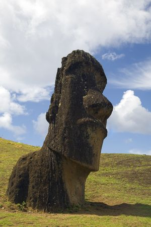 singularity: statue at easter island