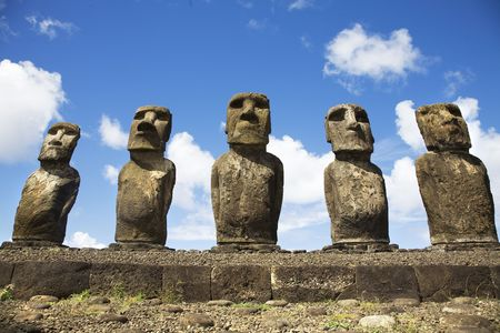 singularity: statues at easter island Stock Photo