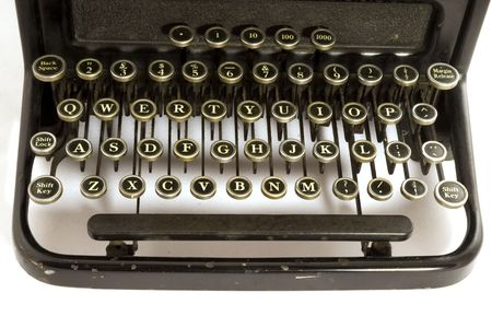 qwerty: old fashioned keyboard from typewriter