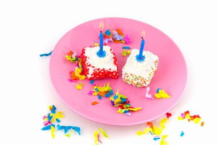 party or birthday with fancy cakes photo