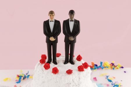 homosexuality: homosexual wedding Stock Photo