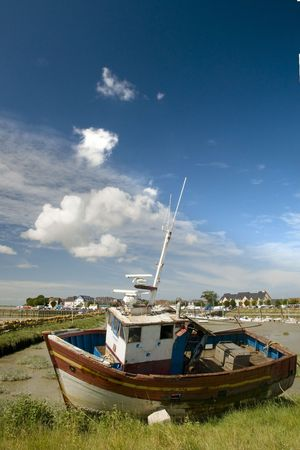 Coast at Normandy by the village Croytoy Stock Photo - 3351303