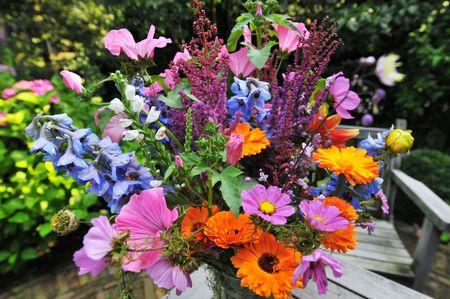 buch: Buch of flowers in the garden