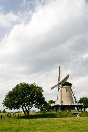 Landscape with Dutch windmill Stock Photo - 3455412
