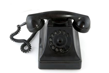 Old black antique telephone Stock Photo - 3505372
