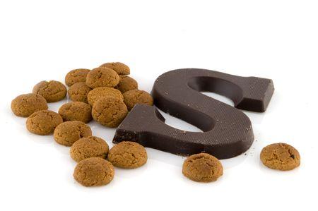 Sinterklaas candy like pepernoten and chocolate Stock Photo - 3702718