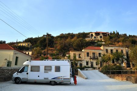With the mobile home in Greece photo