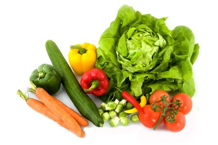 A collection of Fresh vegetables  photo