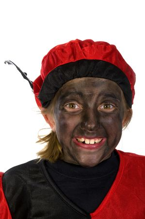 Portrait of Black Piet in Holland Stock Photo - 3823913