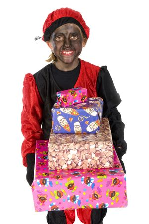 Black Piet with many presents to give Stock Photo - 3823841