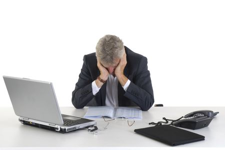 Crying CEO or manager Stock Photo - 3831957