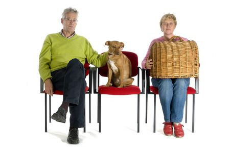 Waiting in the waitingroom from the veterinary photo