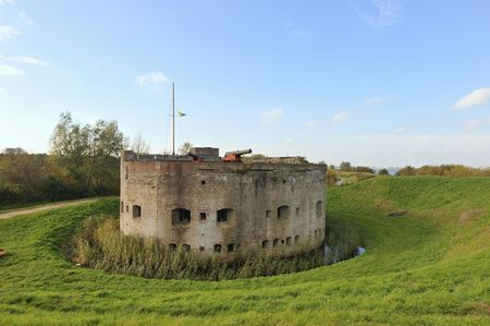Bastion in landscape in Holland Muiden Stock Photo - 3912421