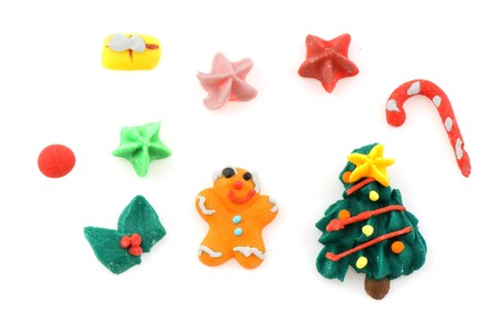 gingerbreadman: Many miniature christmas candy sweets Stock Photo