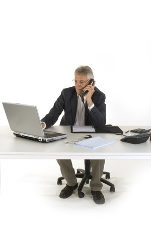 CEO is working at the office with laptop Stock Photo - 3957310