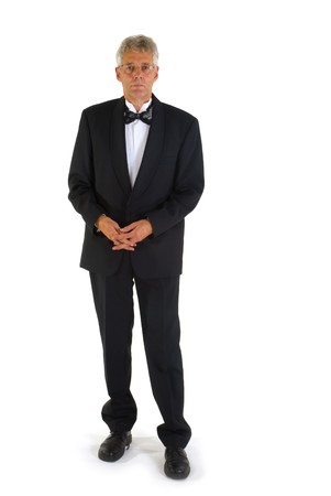 lazo negro: altos hombre vestidos de negro empate