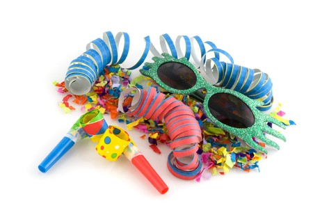 attributes: Carnival or party with attributes Stock Photo