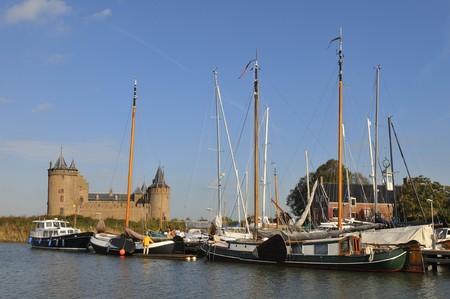 Castle and landmark harbor Muiden in Holland Stock Photo - 4145108