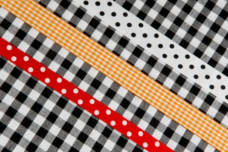 speckles: rural design with ribbon in speckles and checkered