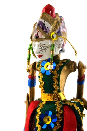 wayang: Wooden Wayang doll from Indonesian Stock Photo