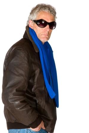 clandestine: Man as gangster with dark sunglasses