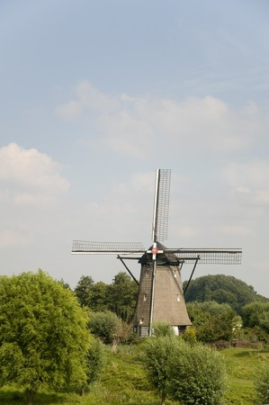 Windmill the Hoop in Zuilichem Holland Stock Photo - 4339880