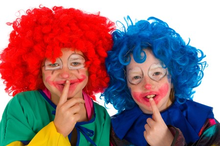 Two funny little clowns  photo