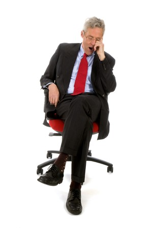workless: CEO with no work today at his chair