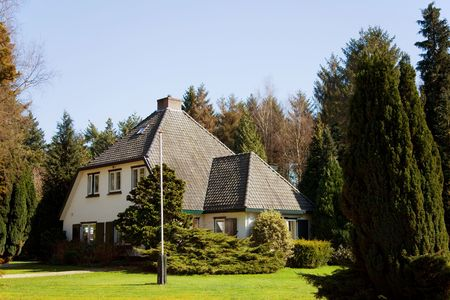 Big villa with beautiful garden in Holland photo