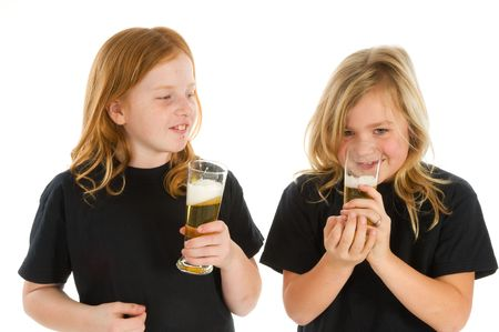Young children are drinking alcohol photo
