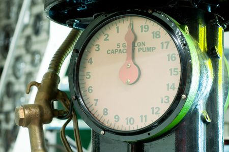 benzin: old vintage fuel pump
