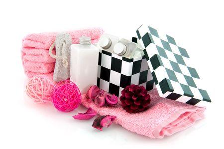 produits de beaut�: produits de beaut� pour le bain et le corps en rose