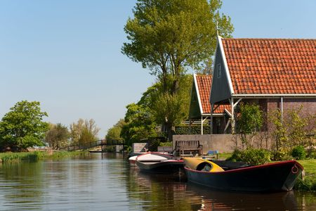 Typical Dutch village Stock Photo - 4880455