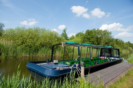 excursions: boat for excursions in nature Stock Photo