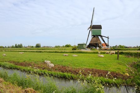 Windmill in Holland Noordeloos Stock Photo - 5164008