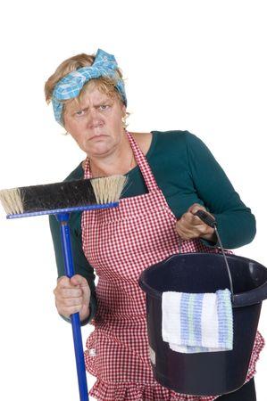 weariness: Casa de la esposa es aburrido de nuevo a la limpieza