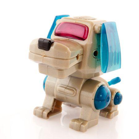 robot dog isolated over white