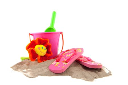 summertime at the beach with leisure objects Stock Photo - 5199479