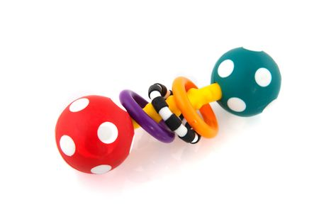 speckles: colorful speckles rattle